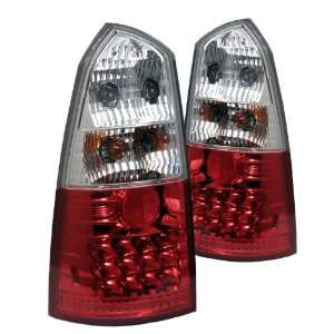 00 03 Ford Focus 5Dr LED Altezza Tail Lights   Red Clear