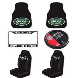 NFL New York Jets 6 PC Auto Accessories Combo Kit   Carpet