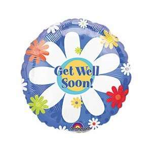 Sunny Sunflower Get Well 4 Air Filled Cup & Stick