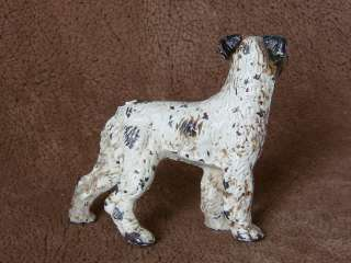 Vintage HUBLEY Cast Iron FOX TERRIER Dog Art Line STICKER