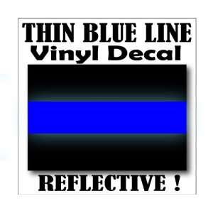 THIN BLUE LINE FOP Police Reflective Decal Sticker   3X2