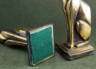 ART DECO MACHINE AGE SIAMESE CAT FORM ANTIQUE BOOKENDS FRANKART