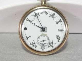 Filled Pocket Watch w/ Masonic/Free Mason Symbols **VERY NICE**