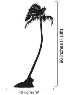 Vinyl Wall Art Decal Sticker Palm Tree Big 8ft