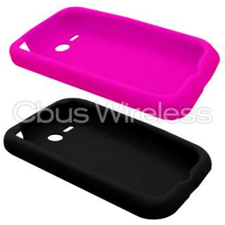 & Hot Pink Soft Silicone Skins Covers Cases for HTC Freestyle