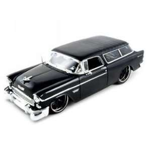 1955 Chevrolet Nomad Diecast Car Model Black 1/18 Toys