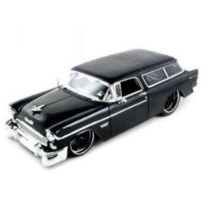 1955 Chevrolet Nomad Diecast Car Model Black 1/18 Toys