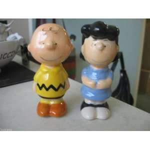 Peanuts Charlie Brown and Lucy Salt & Pepper Shakers