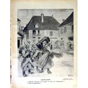 LE RIRE FRENCH HUMOR MAGAZINE WAR SOLDIERS ARMY STREET