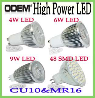 GU10/MR16 3W/4W/6W/9W SMD LED Warm Cool White Light Bulb Lamp Saving