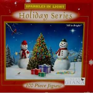 Sparkles in Light WINTER Holiday Series 100 Piece Jigsaw Puzzle All