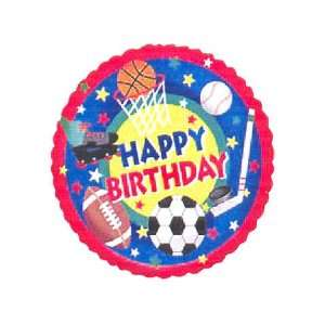 Happy Birthday Big Sports Fan 18 Mylar Balloon: Toys & Games