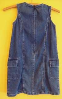 GAP Girls BLUE Jean DENIM Sleeveless Jumper DRESS 5/6