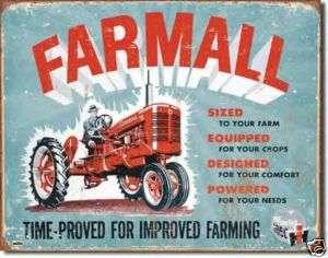 IH Farmall Model C Tractor Nostalgic Metal Tin Sign USA