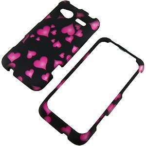 Pink Hearts Black Protector Case for HTC Radar 4G