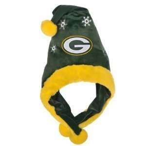 Green Bay Packers NFL Official Team logo Stadium Dangle Santa Hat *NEW