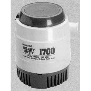 Heavy Duty Bilge Pump (Gph Open Flow 1700 Flow @ 3.3 1300 Amps 6