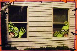 For your consideration is this new Halloween Ghouls Wall, Window, Door