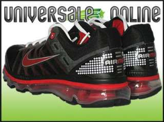 NIKE AIR MAX 2009 SIZE 6Y / 7.5 WOMENS   BLACK RED SILVER RUNNING