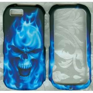 burning blue skull rubberized camo motorola i1 Sprint