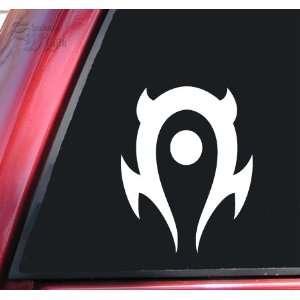 World of Warcraft Horde Vinyl Decal Sticker   White
