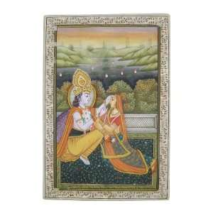 God Ganesh The Arts Of India Embossed Miniature Painting