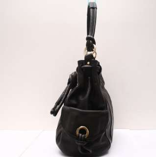 Michael Kors   Black Leather Greenport Drawstring Shoulder Large