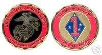 USMC MARINE CORPS 1ST DIV GUADALCANAL CHALLENGE COIN
