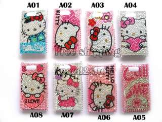 Hello kitty Rhinestone Bling Case Cover for HTC ARIA G9