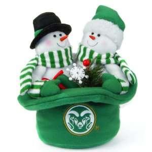 12 NCAA Colorado State Rams Snowmen Top Hat Table