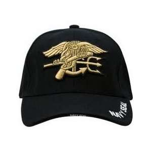 Military NAVY SEAL cap w logo (BLACK)