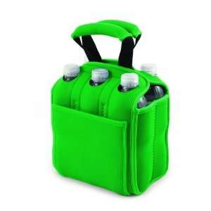 Six Pack Insulated Beverage Tote (Emerald Green) Patio