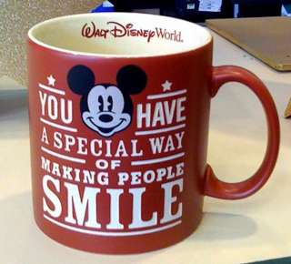 Disney Park Mickey Mouse Smile Ceramic Mug NEW