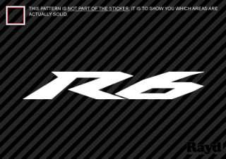 2x) Yamaha R6 Sticker Decal Die Cut (8 inch) vinyl
