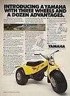 Neat 1980 YAMAHA Tri Moto 125 3 Wheeled Bike Print Ad