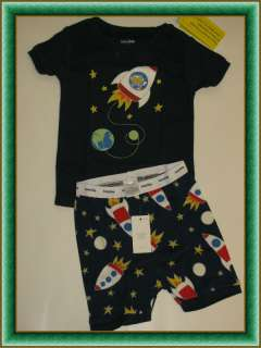 NWT Baby GAP glow in the dark SPACE moon comet pajama sleep set BOYS