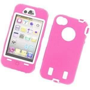 Premium Apple iPhone 4 Silicone Hard Case   Light Pink Electronics