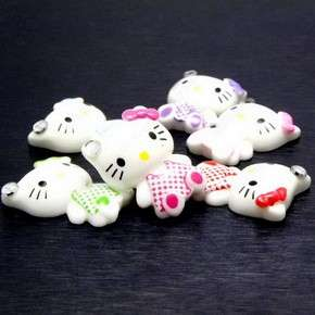 B1312 (25pcs) Mix Hello Kitty Baby Bow 19MM Resin Flatback