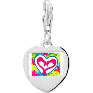 Silver Gold Plated Love Heart Photo Frame Charm Pugster Jewelry