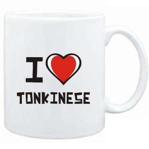 Mug White I love Tonkinese  Cats