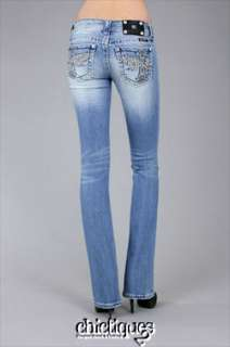 MISS ME Jeans NWT Butterfly Wing Boot Cut Light Sz 27