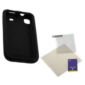 GTMax Black Silicone Skin Soft Cover Case + Universal LCD