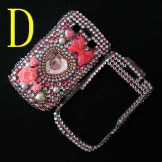 Diamond Crystal Bling Hard Back & Front Cover Case For Blackberry Bold