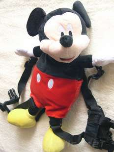 Mickey Minnie Mouse ELMO Safety Harness Backpack Rein changing bag