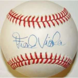 Signed Frank Viola Baseball   1987 World Series Game