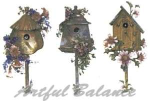 Ceramic Decals Birdhouse Floral Bird House 3 Designs