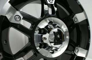17 x 9 Inch Black KMC XD Series Spy Wheels Rims Mach