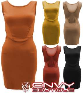 NEW LADIES WOMEN SIDE CUT OUT LOOK BODYCON EVENING PARTY DRESS TOP