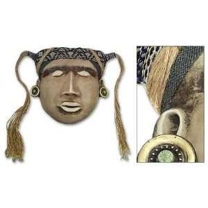Papier mache mask, Inca Warrior Home & Kitchen
