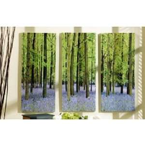 Green Trees Meadow 3 Panels WALL ART Decor stunning Large